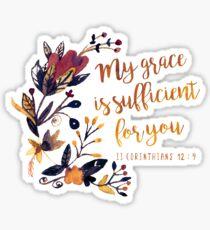 Pegatina II Corintios 12: 9