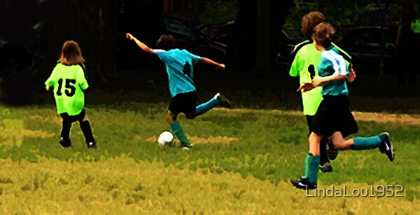 Summer Soccer Kids by LindaLou1952