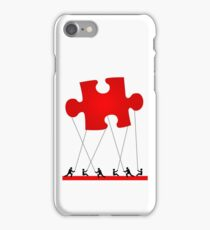 red puzzle iPhone Case/Skin