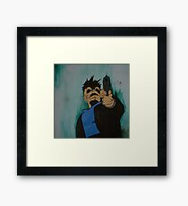 """look me in the eye and tell me i'm crazy"" Framed Print"