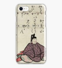 Otomo no kuronushi - Hokusai Katsushika - 1804 iPhone Case/Skin