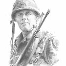 vietnam war soldier drawing by Mike Theuer