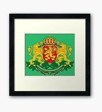 BULGARIA-COAT OF ARMS Framed Print