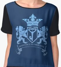 Coat of Arms Chiffon Top