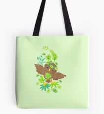 Owlet in the succulents Tote Bag