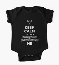 Keep Calm It's Only (One Extra Chromosome) Me. For Down Syndrome awareness One Piece - Short Sleeve