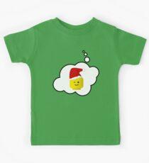 Santa Minifig Head by Bubble-Tees.com Kids Tee