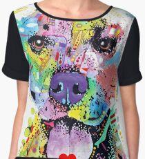 I Love My Pitbull - Colorful Pitbull T-shirts Chiffon Top