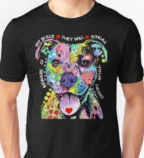 I Love My Pitbull - Colorful Pitbull T-shirts Unisex T-Shirt