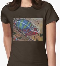 Panther Chameleon Women's Fitted T-Shirt