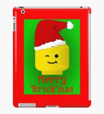 Merry Christmas Santa Minifig by Customize My Minifig iPad Case/Skin