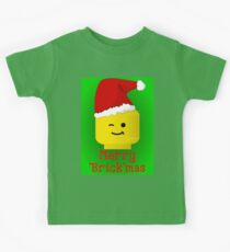 Merry Christmas Santa Minifig by Customize My Minifig Kids Tee