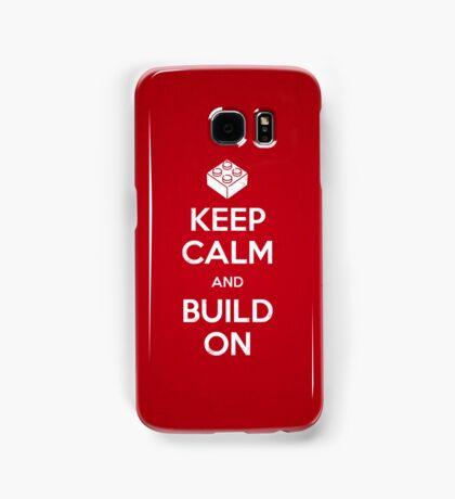 Keep Calm and Build On Samsung Galaxy Case/Skin