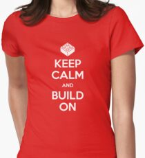 Keep Calm and Build On Women's Fitted T-Shirt