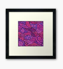 60s hippie abstract print Framed Print