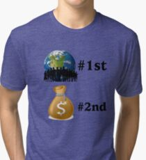 Planet first Tri-blend T-Shirt