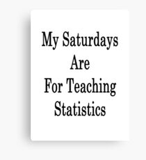 My Saturdays Are For Teaching Statistics  Canvas Print
