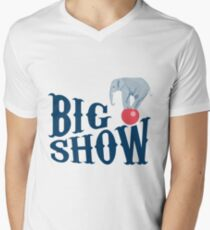 The Big Show - Circus Elephant Balancing Act - Elephant Balancing Trick - Circus Trick Men's V-Neck T-Shirt