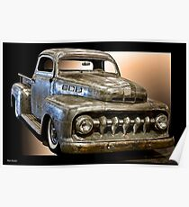 1951 Ford F100 Pickup Poster