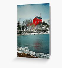 Marquette Harbor Lighthouse-Marquette, Michigan Greeting Card