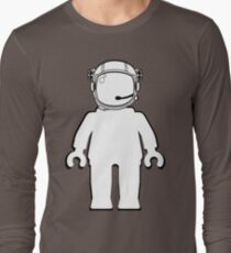 Banksy Style Astronaut Minifigure by Customize My Minifig Long Sleeve T-Shirt