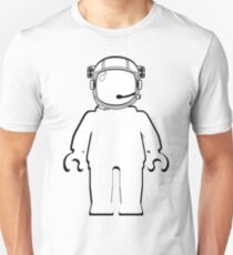 Banksy Style Astronaut Minifigure by Customize My Minifig Unisex T-Shirt