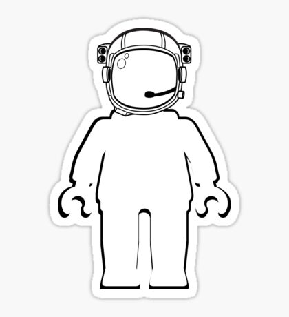Banksy Style Astronaut Minifigure by Customize My Minifig Sticker