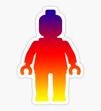 Minifig [Large Rainbow 2]  Sticker