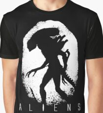 Aliens Egg Silhouette  Graphic T-Shirt