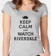 Riverdale - Keep Calm And Watch Riverdale Women's Fitted Scoop T-Shirt