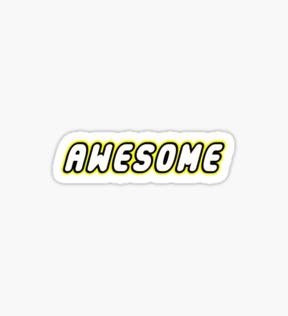 AWESOME by Customize My Minifig Sticker