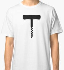 Black Corkscrew Classic T-Shirt