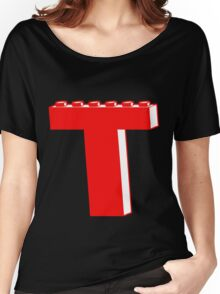 THE LETTER T by Customize My Minifig Women's Relaxed Fit T-Shirt