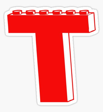 THE LETTER T by Customize My Minifig Sticker
