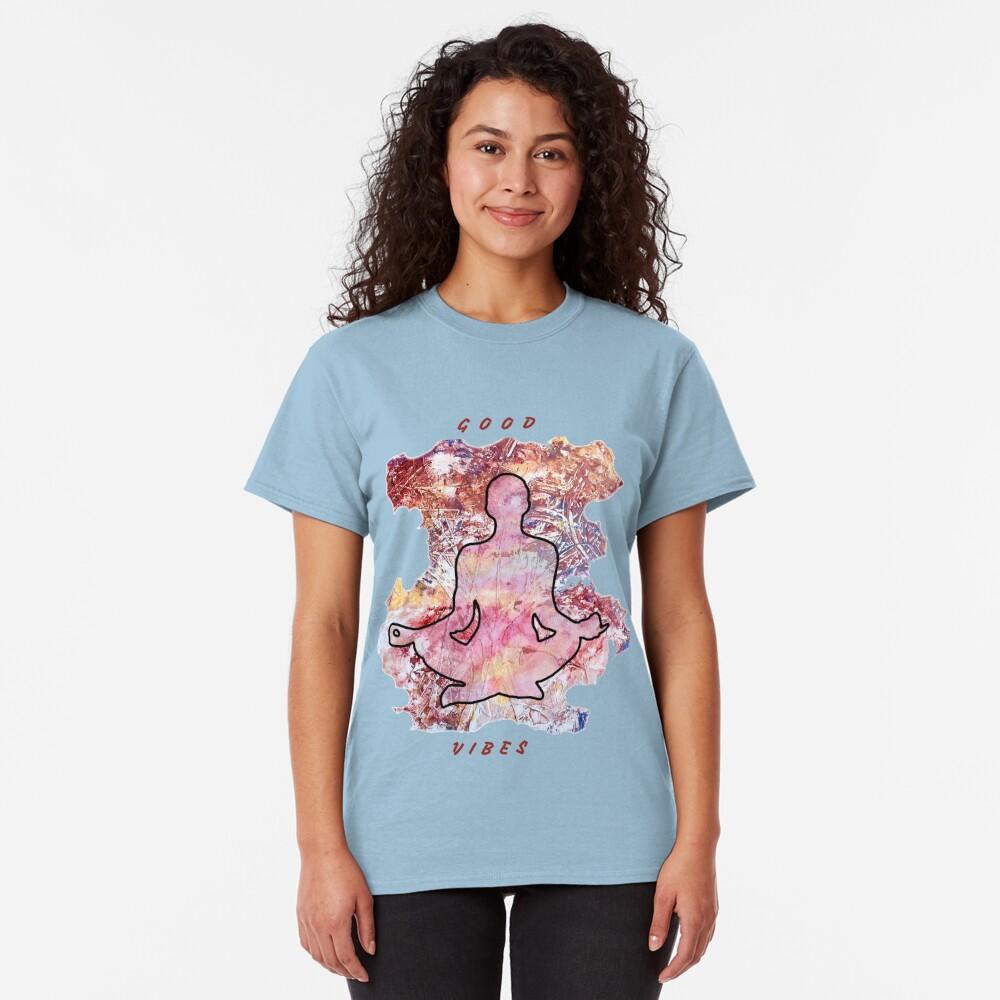 MEDITATION GOOD VIBES LOTUS POSITION Classic T-Shirt
