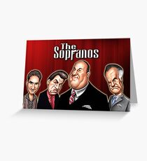 The Sopranos Cartoon Greeting Card