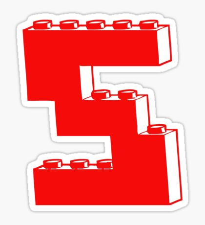 THE LETTER S by Customize My Minifig Sticker