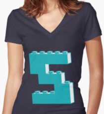 THE LETTER S by Customize My Minifig Women's Fitted V-Neck T-Shirt