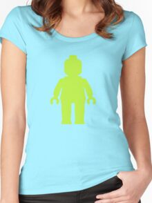 Minifig [Lime Green]  Women's Fitted Scoop T-Shirt