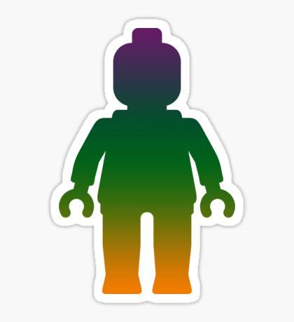 Minifig [Large Rainbow 3] Sticker