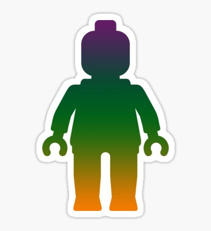 Minifig [Large Rainbow 3] Sticker