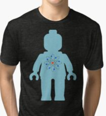 Minifig with Atom Symbol  Tri-blend T-Shirt