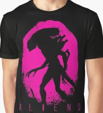 Alien E gg Silhouette Pink Graphic T-Shirt