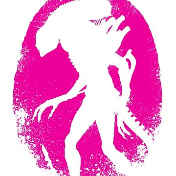 Alien E gg Silhouette Pink by leea1968