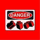 Danger Bricks Sign  by ChilleeW