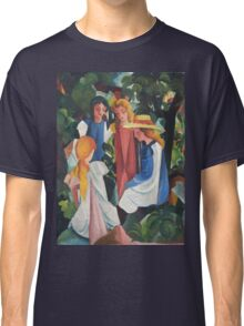 August Macke - Four Girls Classic T-Shirt