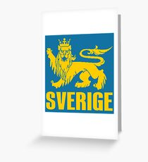 SVERIGE Greeting Card