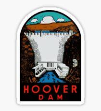 Hoover Dam Vintage Travel Decal Sticker