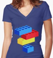Bricks Women's Fitted V-Neck T-Shirt