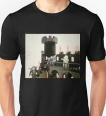 Horror Castle with Ghost Minifig Unisex T-Shirt